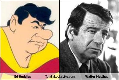 actor cartoons ed huddles walter matthau - 3538487552