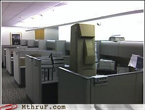 art awesome boredom cardboard creativity in the workplace cubicle boredom cubicle prank decoration easter island ergonomics granite guardian monolith sculpture spooky stone wiseass work smarter not harder - 3539073280