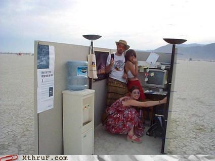 art awesome co-workers not boredom burning man corny creativity in the workplace cubicle boredom cubicle prank dumb ergonomics hardware hippies ingenuity prank sass sculpture symbolic ugh work smarter not harder - 3539076352