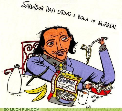 art,food,puns,salvador Dali,surrealism