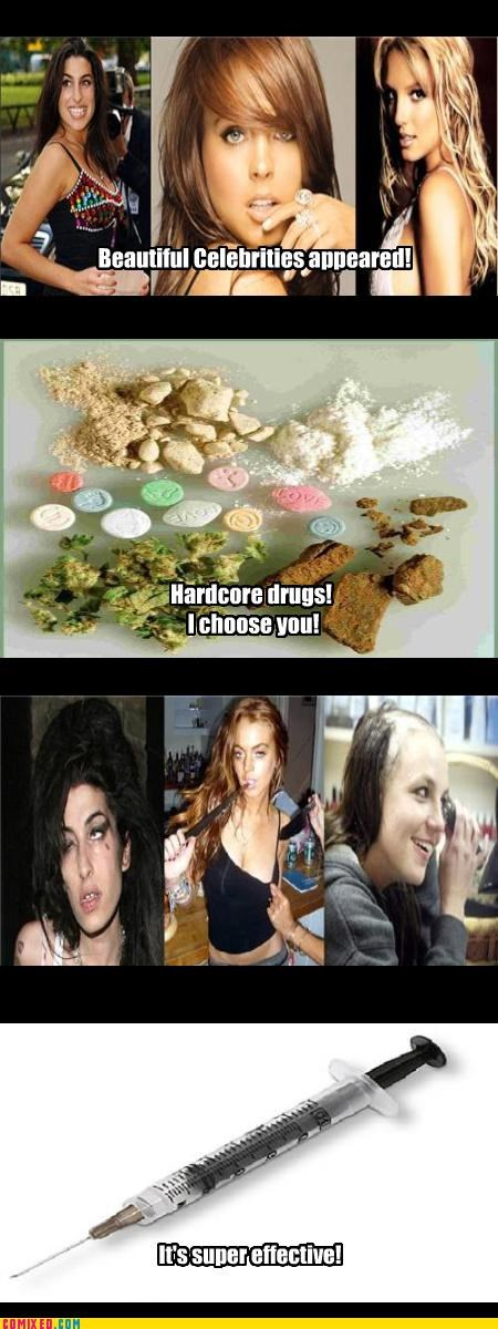 amy winehouse,britney spears,celebutard,celebutards,drugs,effective,lindsay lohan,vanity