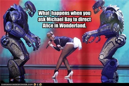 What happens when you ask Michael Bay to direct Alice in Wonderland.