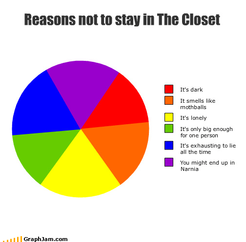 big closet dark gay lie lonely mothballs narnia person Pie Chart smell - 3542258176