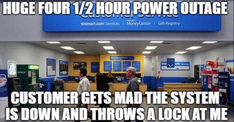 Walmart employee shares a series of their work stories.