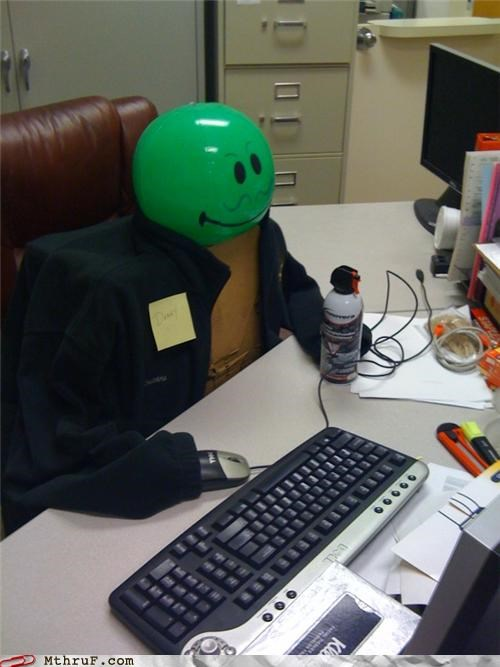 awesome co-workers not balloon boredom cubicle boredom cubicle fail cubicle prank decoration decoy depressing dickheads ergonomics ingenuity passive aggressive replacement sass sculpture stupid decorations substitute wiseass work smarter not harder - 3542516224