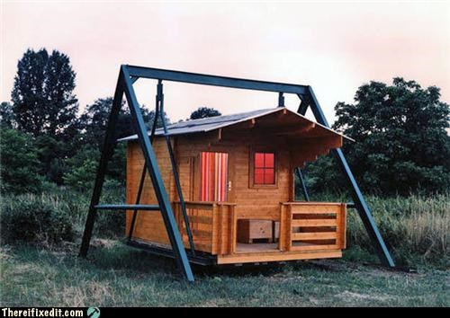 house shed swing unstable - 3542884608