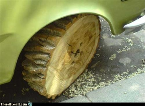 car,mod,recycling-is-good-right,tire,wheel,wood