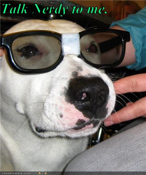 glasses,nerd,pit bull,talk,tape