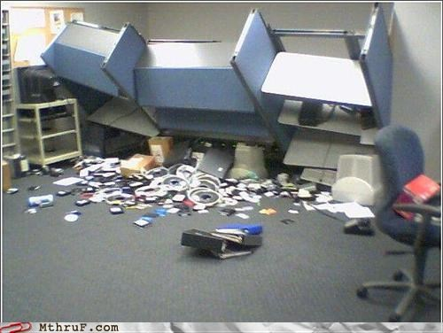 accident cubicle fail depressing destroyed disaster earthquake ergonomics garbage heap mess pwned Sad screw you trashed wamp wamp wrecked - 3545001984