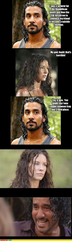 iraq island lost puns Sayid TV - 3545063680