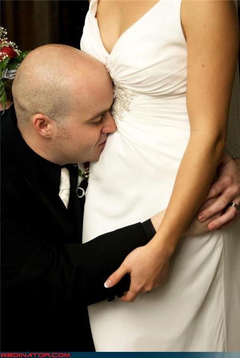 bride crazy groom eww funny wedding photos groom pregnant-bride were-in-love weird wedding portrait wtf wtf is this - 3545521408