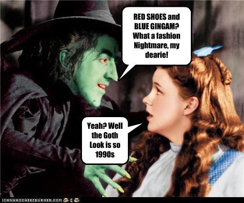 actress fashion Judy Garland margaret hamilton movies the wizard of oz - 3546204160