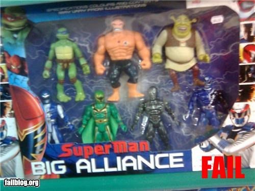 cartoons failboat shrek super heroes superman TMNT wrong - 3546428416