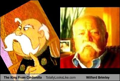 cartoons cinderella king mustache old man wilford brimley - 3546658816