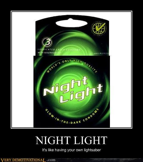 condoms glow in the dark Jedi latex light saber Pure Awesome the future