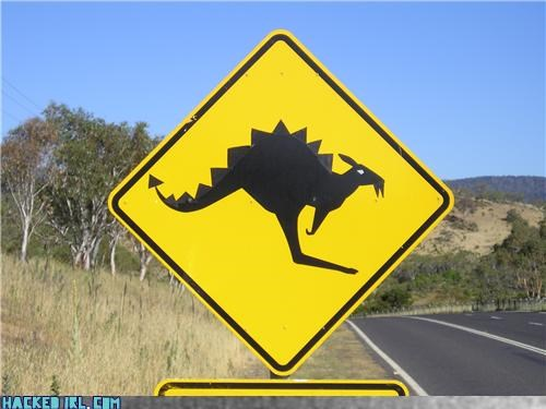 caution,dinosaur