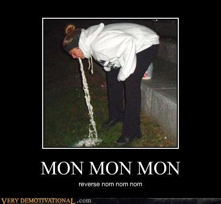 girl hilarious just-kidding-relax nom nom nom reverse vomit - 3548989952