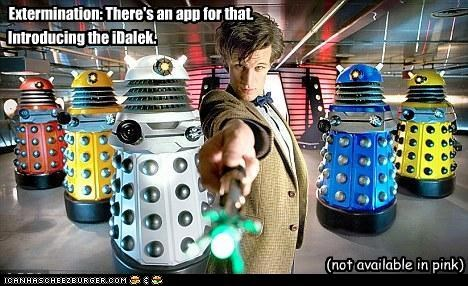 Extermination: There's an app for that. Introducing the iDalek. (not available in pink)