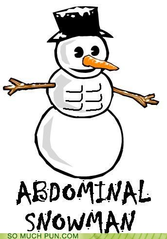 diet exercise muscles puns snow - 3549448704