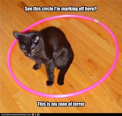 See this circle I'm marking off here? This is my zone of terror