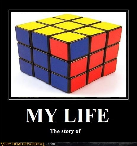 life puzzle rubiks cube - 3551529216