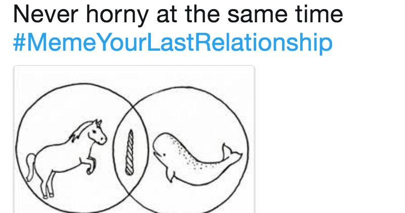Meme your last relationship trending hashtag has taken Twitter by storm, and it's painfully relatable.