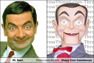 actor British goosebumps mr-bean rowan atkinson Slappy ventriloquists dummy - 3554729472
