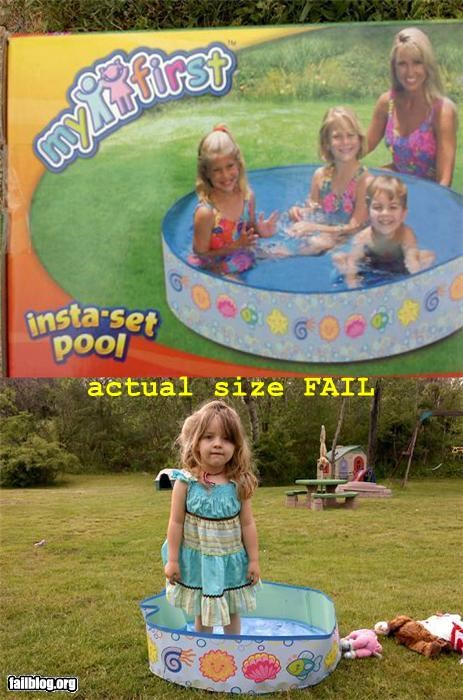 actual size failboat pool summer fails tiny toy - 3555337984