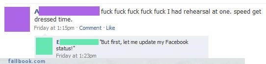 get a life,late,moron,status updates