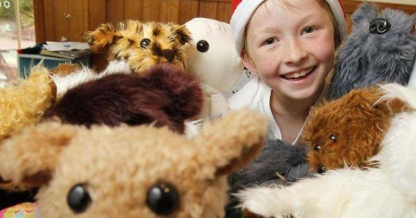 the boy who sews stuffed animals for kids in hospitals