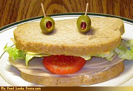burgers and sandwiches drunk face olive eyes sandwich tomato tongue - 3558793216