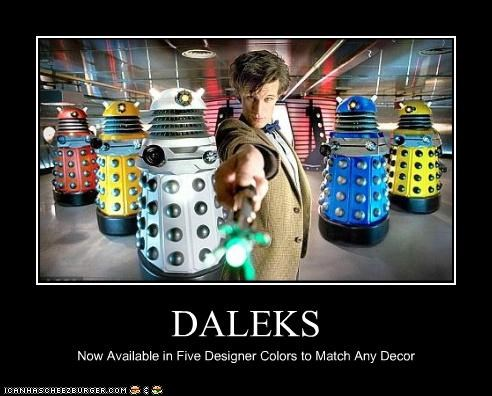 DALEKS Now Available in Five Designer Colors to Match Any Decor