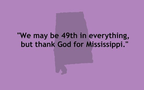 Sarcastic States Of America - Mississippi quote about 49th place cover image