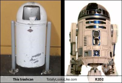 r2-d2 robots star wars trash can