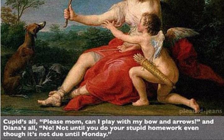 a funny list of art