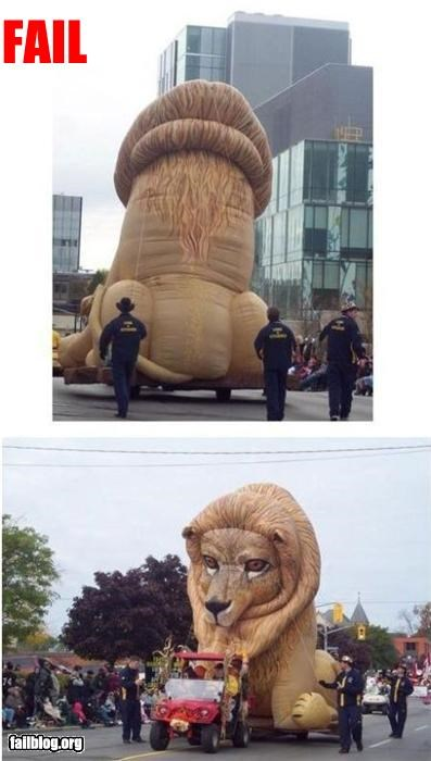 Inflatable Lion Fail looks like a big ol' thing