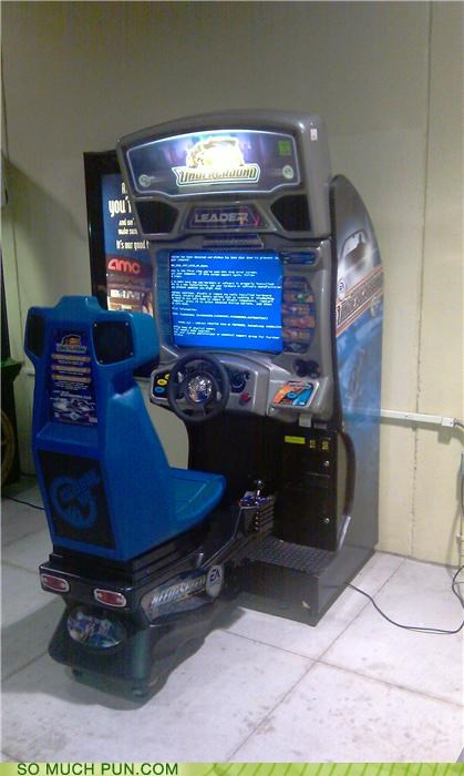 arcade,crashing,need for speed,puns,Videogames