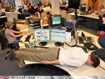 awesome co-workers not bed boredom busted cubicle boredom desk desk bed ergonomics face down face-down-ass-up-thats-the-way-we-like-to-fcuk lazy nap napping passive aggressive Sad sleep sleeping sloth tired work smarter not harder