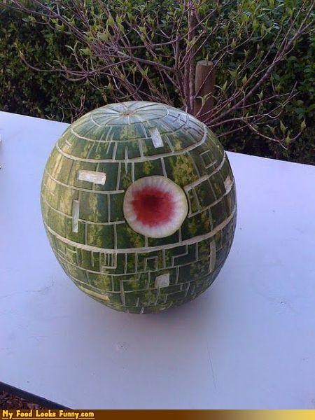 Death Star fruits-veggies melon movies sci fi star wars watermelon