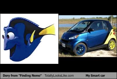 animation,cars,dory,finding nemo,fish,pixar,smart car