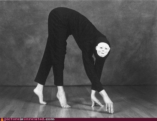 black and white costume creepy monster wtf - 3574998272