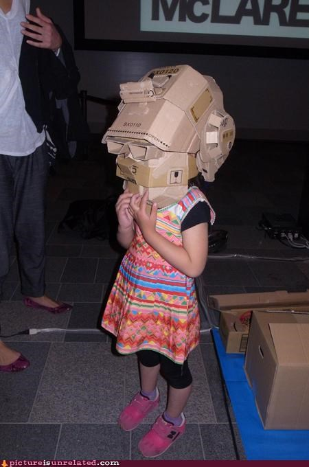 cardboard costume cyberpunks kids punk wtf