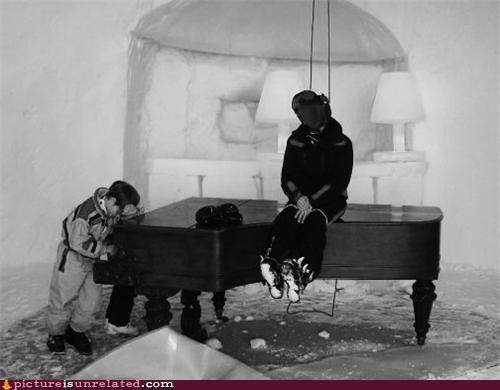 cold,igloo,kid,Music,note,piano,wtf