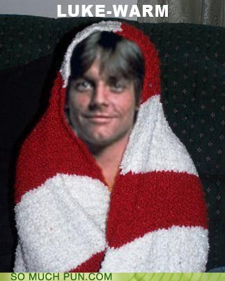 blankets luke skywalker puns star wars warmth