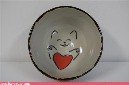 bowl,heart,kitty,love,paint