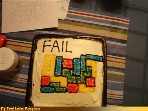 cake,cake fail,FAIL,games,icing,Sweet Treats,tetris,tetris fail