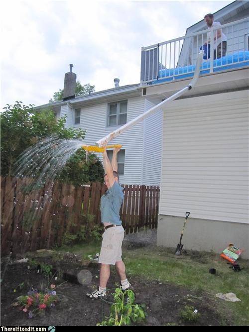 balcony garden hose pool summer fun - 3579578368