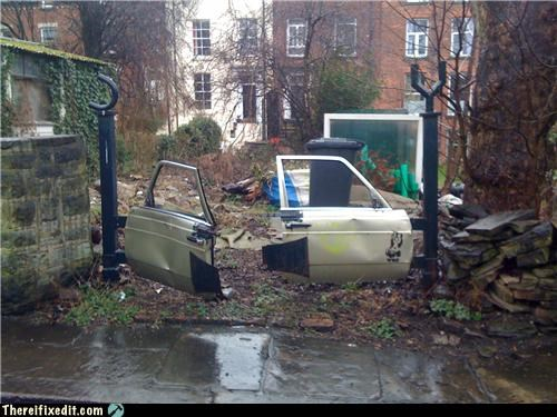 car door,mod,not intended use,outside,recycling-is-good-right,swinging door