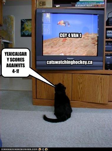 catswatchinghockey.ca YEA!CALGARY SCORES AGAIN!ITS 4-1! CGY 4 VAN 1