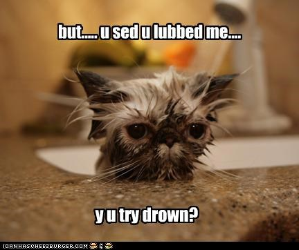 angry bath confused do not want Sad wet - 3582598400